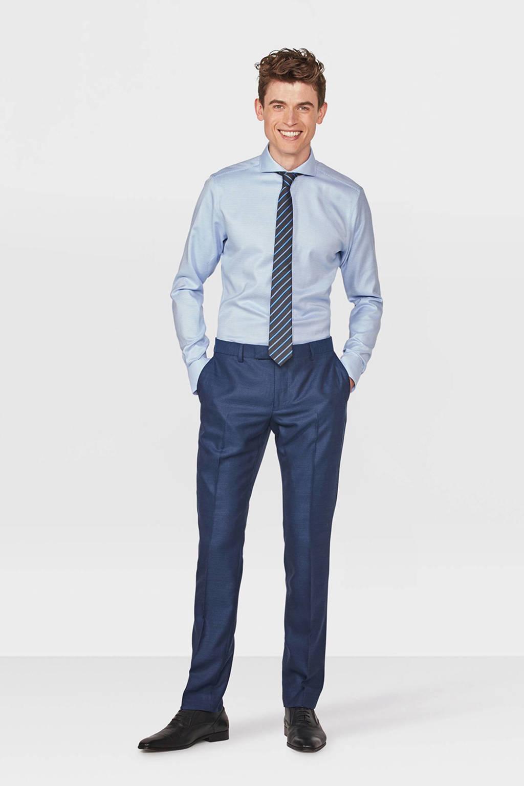 WE Fashion slim fit overhemd, Lichtblauw