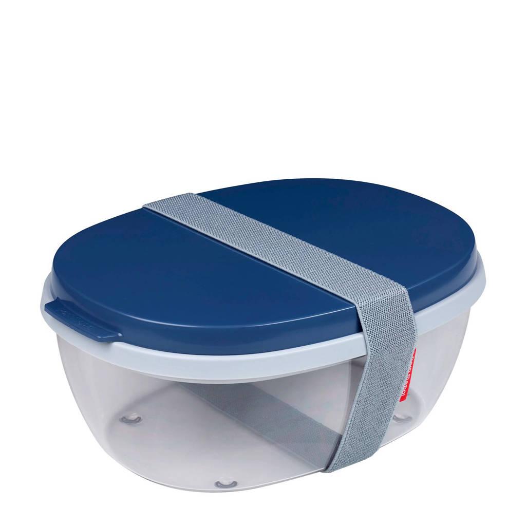 Mepal Ellipse saladebox (3-delig), Donkerblauw