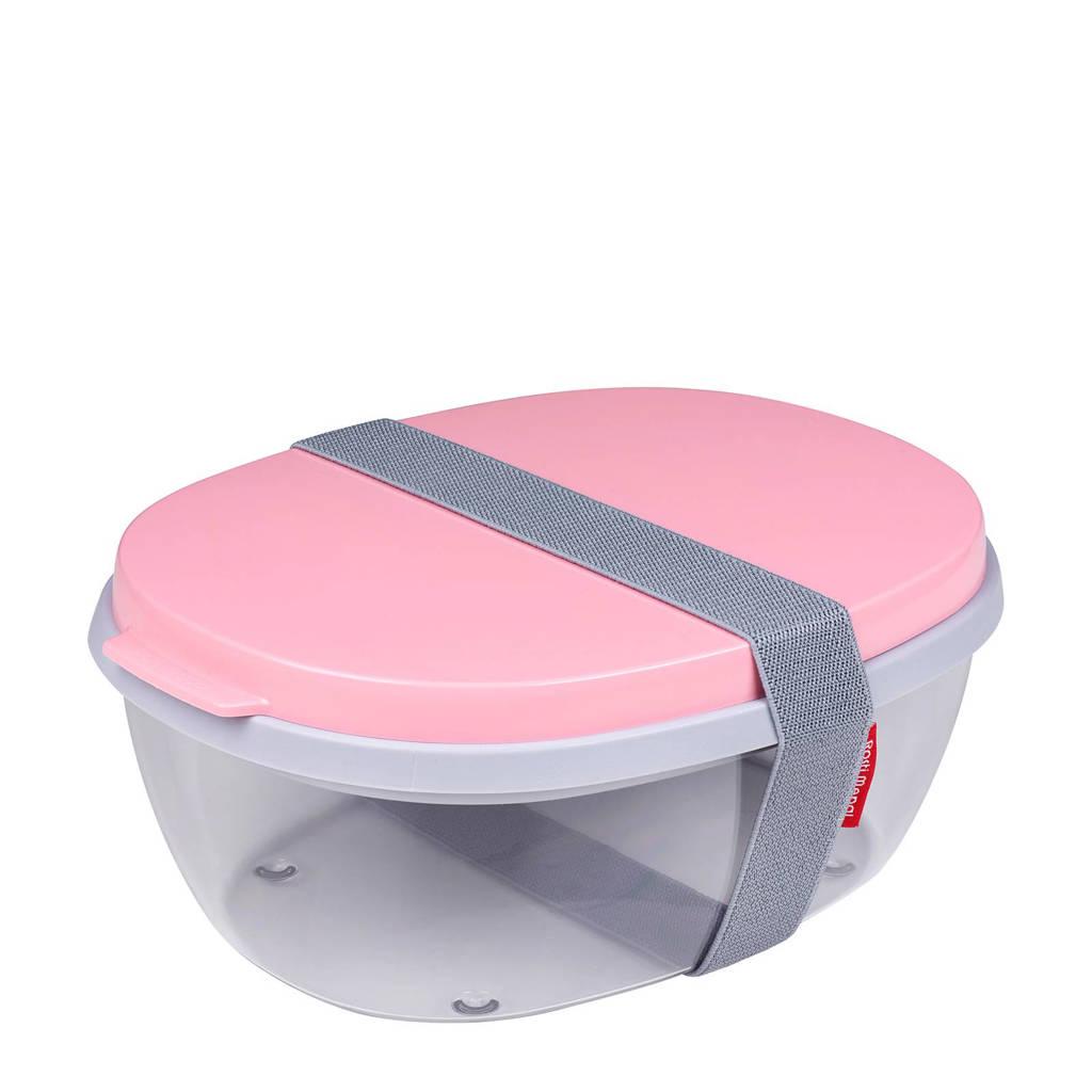 Mepal Ellipse saladebox (3-delig), Roze