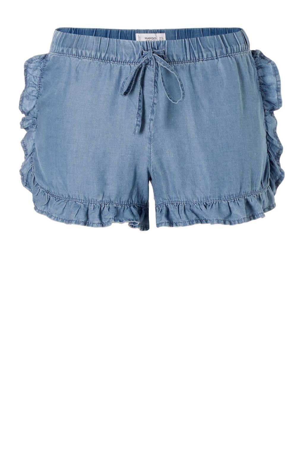 Mango jeans short, Blauw