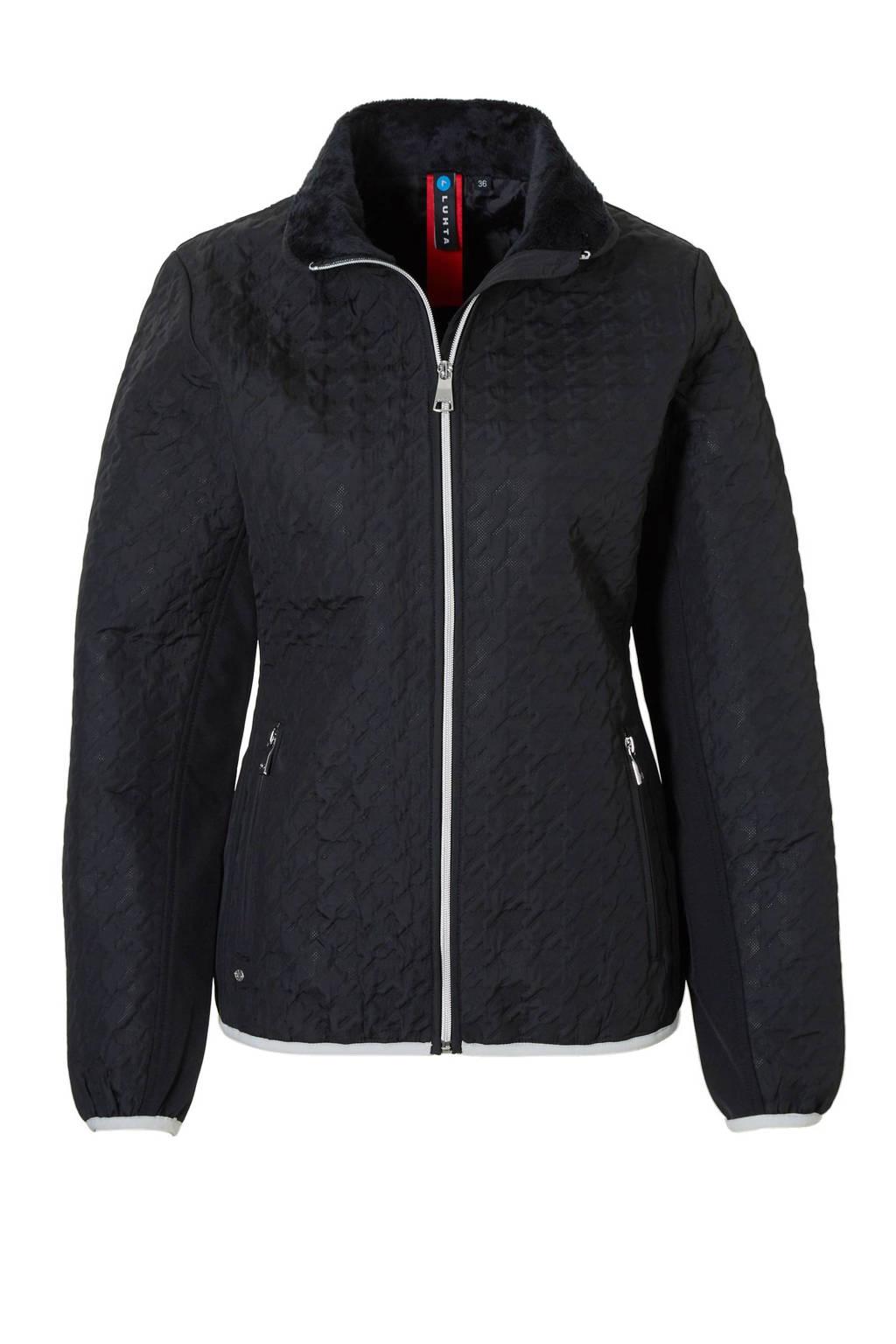 Luhta Beatrice outdoor jas, Zwart