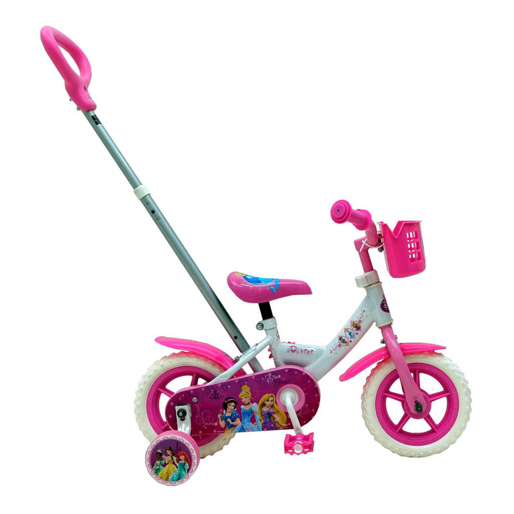 Disney Princess 10 inch kinderfiets 10 inch Wit kinderfiets