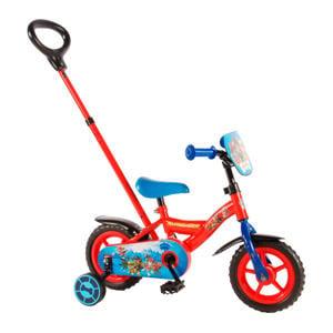 kinderfiets 10 inch Rood/ blauw