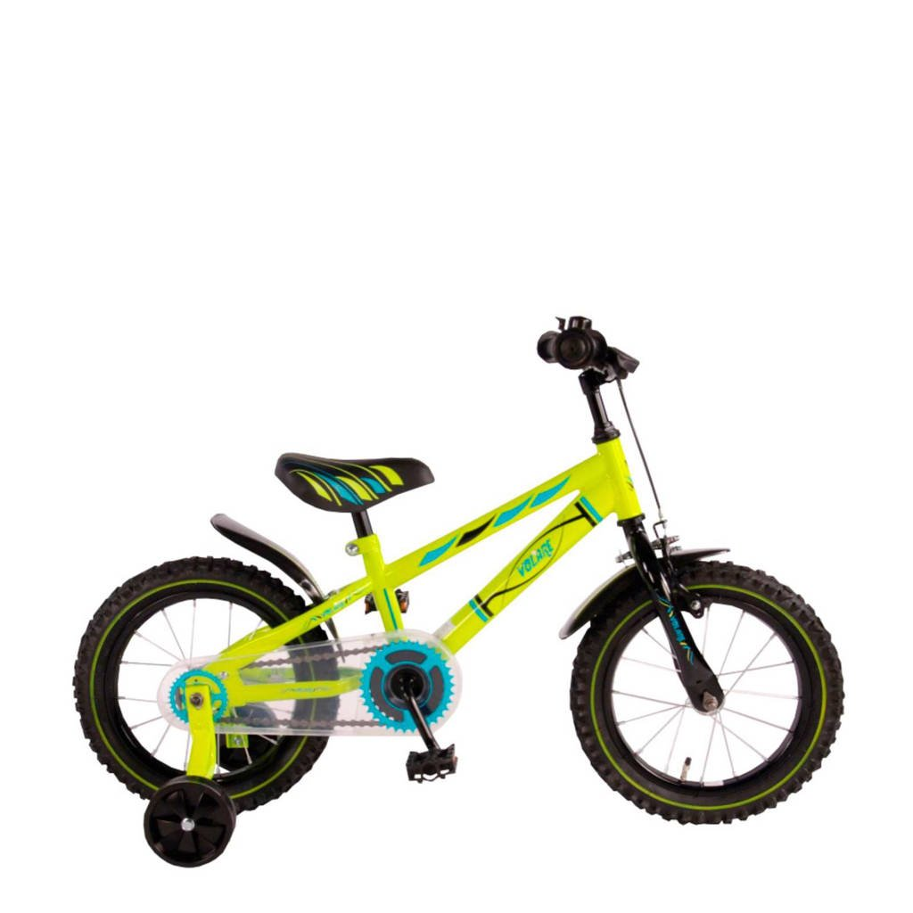 Volare Electric Green 14 inch kinderfiets, 14 inch / 98 - 110