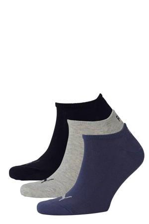 sokken - set van 3 donkerblauw/grijs/zwart