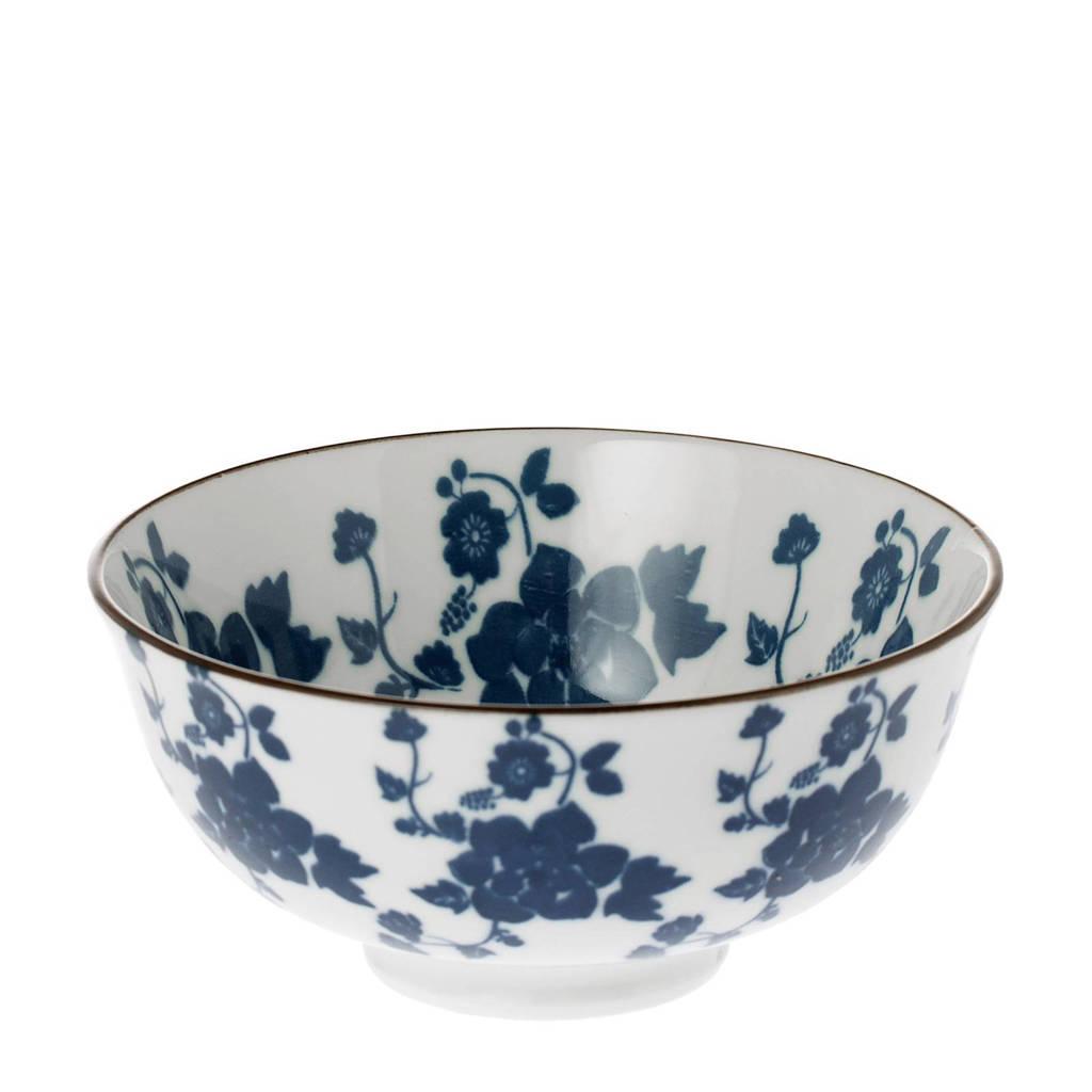 Riverdale Floral kom (Ø12 cm), Blauw/wit