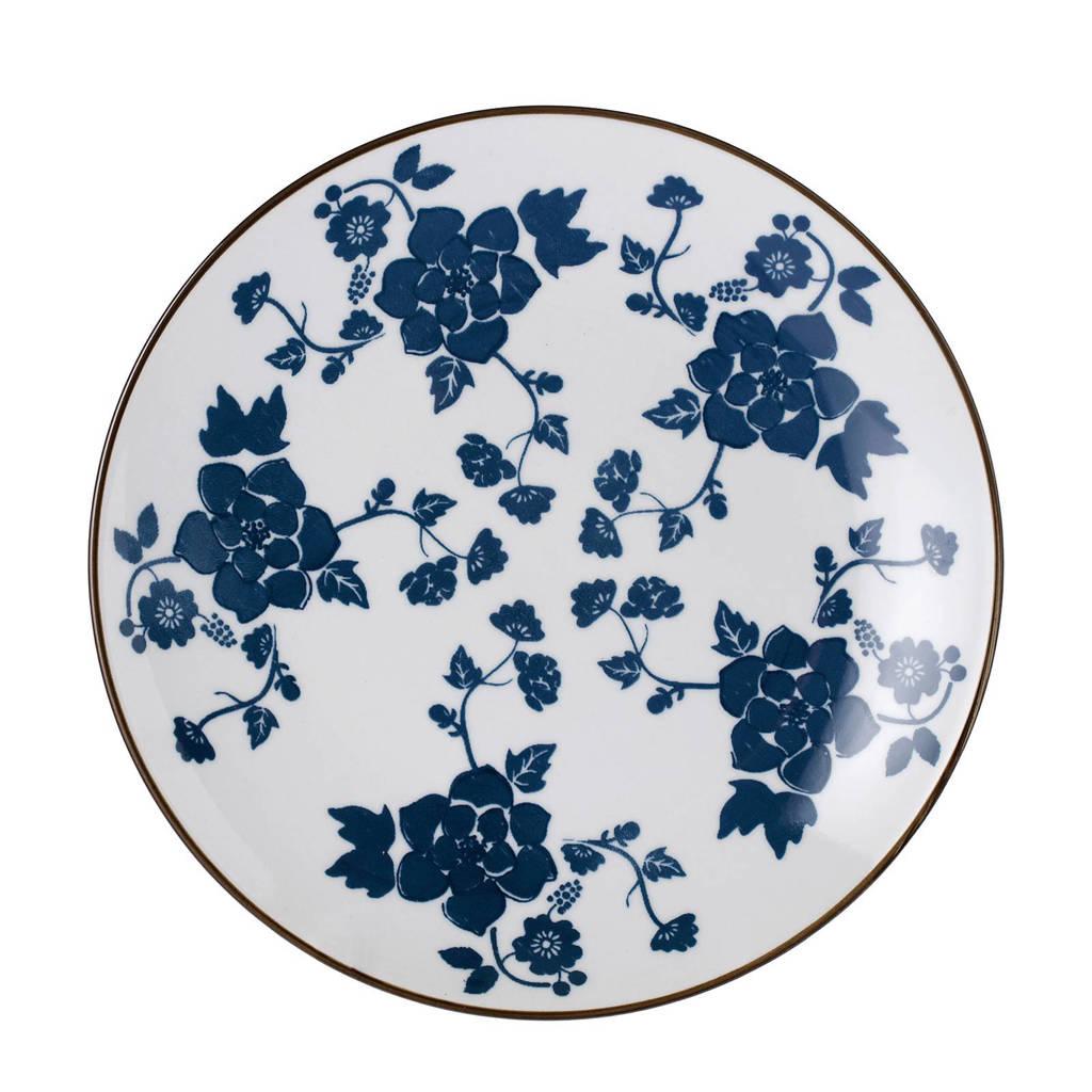 Riverdale Floral ontbijtbord (Ø22 cm), Blauw/wit
