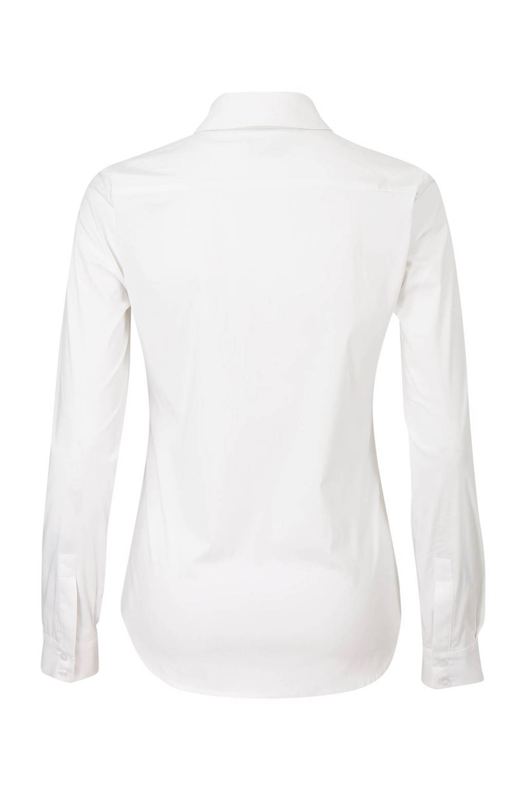 Promiss blouse wit stretch katoen, Wit