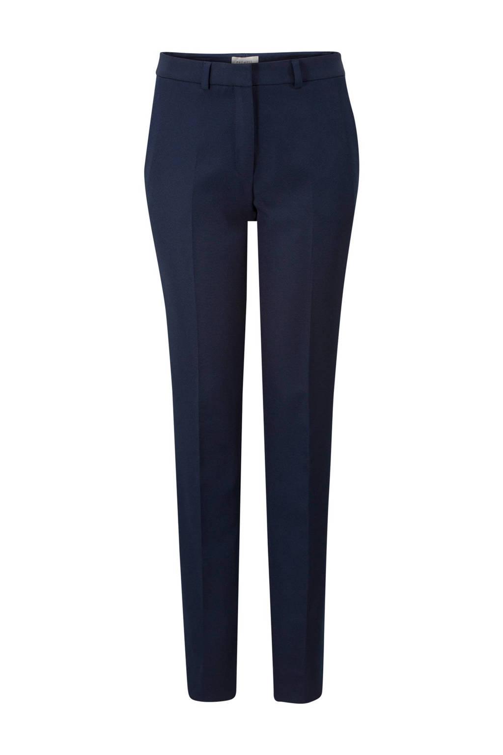 Promiss straight fit pantalon, Blauw