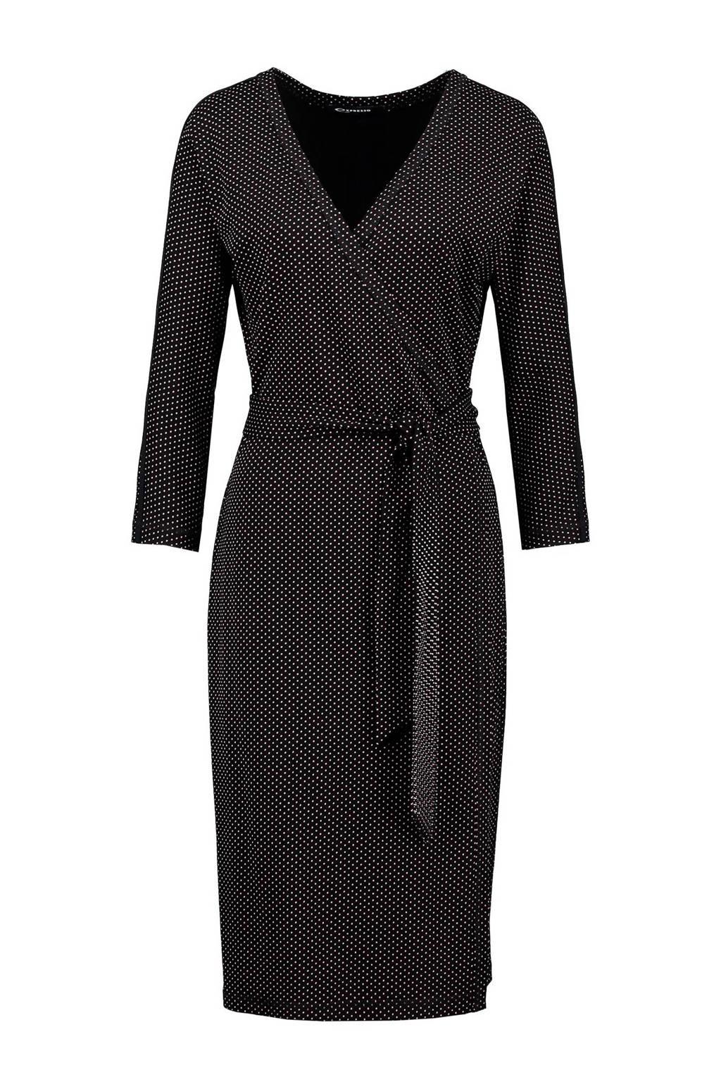 Expresso Jamila jurk, Zwart/roze