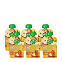 Olvarit knijpzakjes fruit appel banaan 6+ mnd (6-pack)
