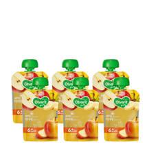 knijpzakjes fruit appel banaan 6+ mnd (6-pack)