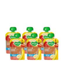 knijpzakjes fruit banaan aardbei 8+ mnd (6-pack)