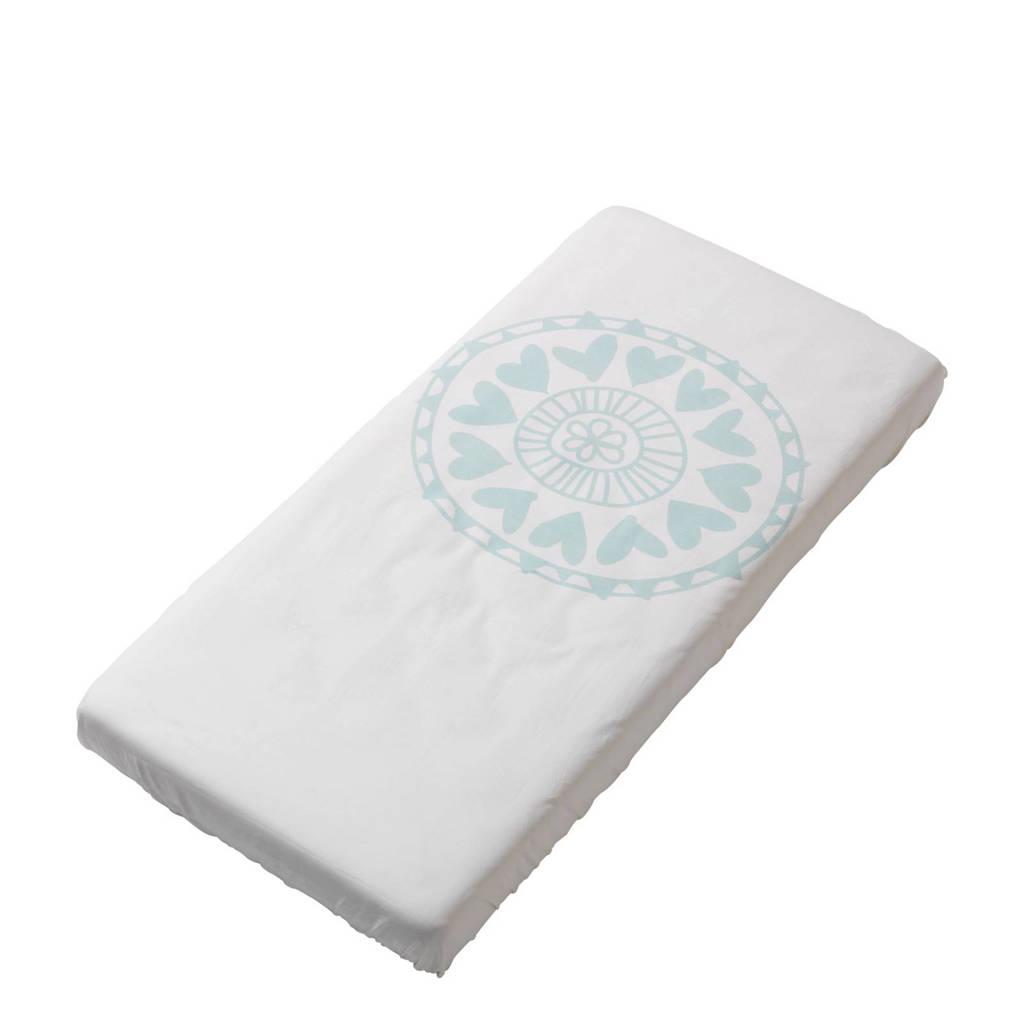 Witlof for kids katoenen Little Lof ledikant hoeslaken 60 x 120 cm, Offwhite-mint
