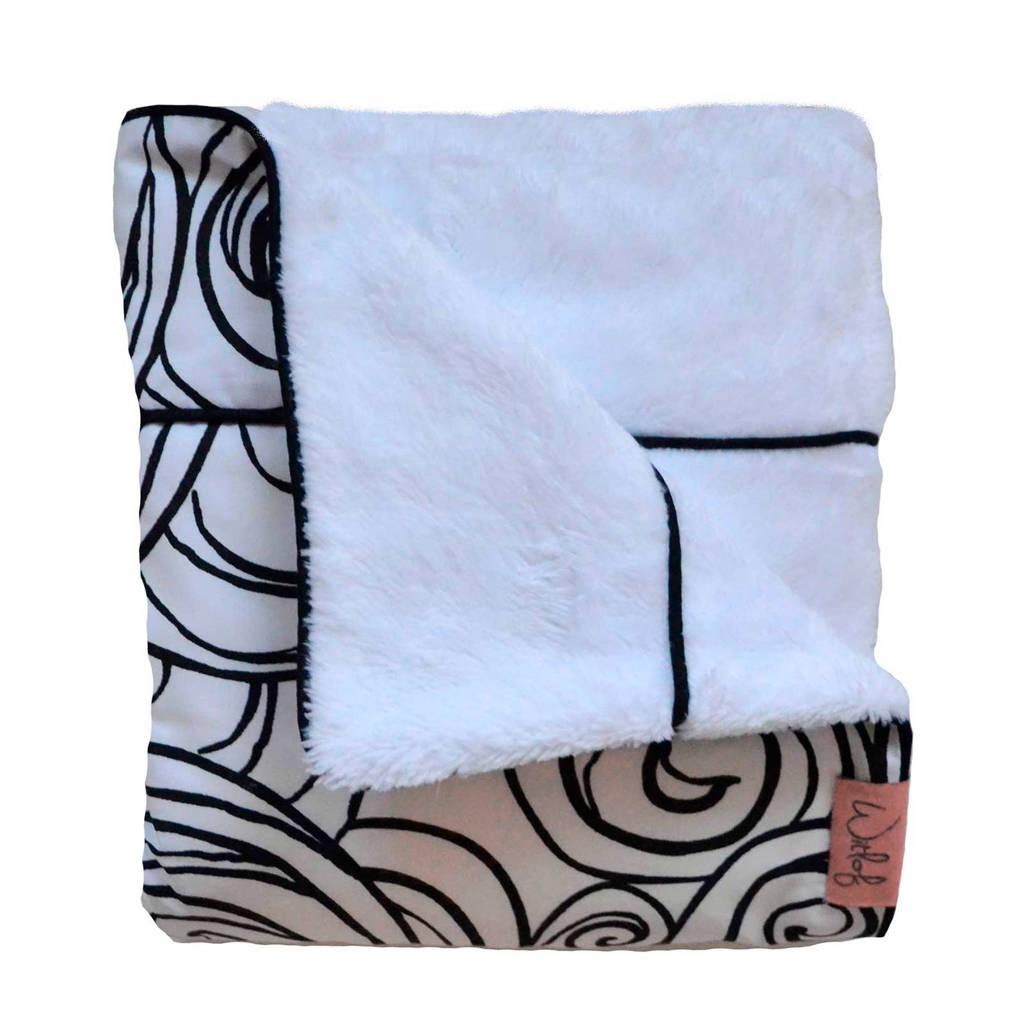 Witlof for kids Moon Tuck-Inn® wiegdeken zwart-wit, Zwart-Wit