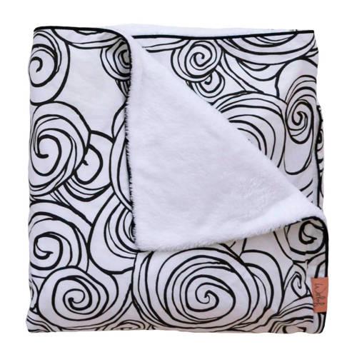 Witlof for kids Moon Tuck-Inn ledikantdeken zwart-wit