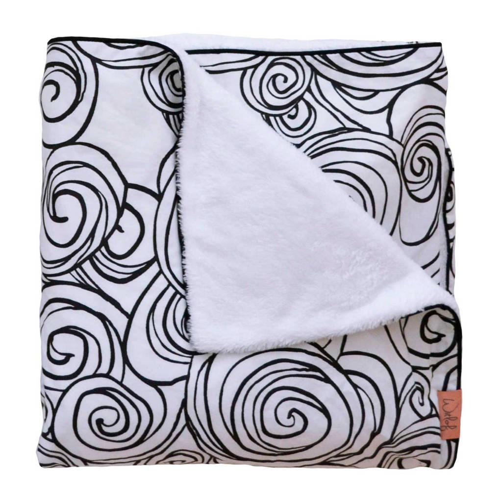 Witlof for kids Moon Tuck-Inn® ledikantdeken zwart-wit, Zwart-Wit