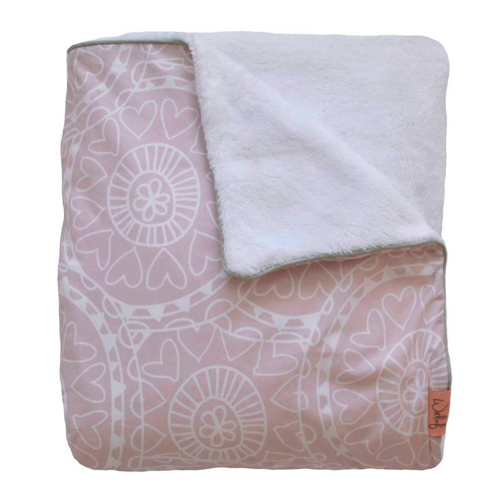 Witlof for kids Little Lof Tuck-Inn® baby ledikantdeken misty pink-white, Misty pink-white