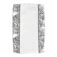 Witlof for kids Moon aankleedkussenhoes zwart-wit, Zwart-Wit