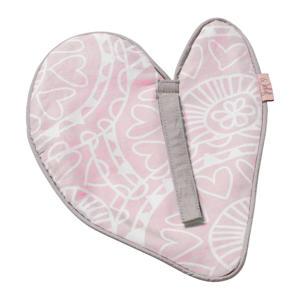 Little Lof speendoekje misty pink-white knuffeldoekje