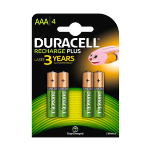 Recharge Plus AAA-batterijen 4 stuks