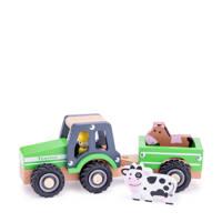 New Classic Toys  tractor met aanhanger en dieren
