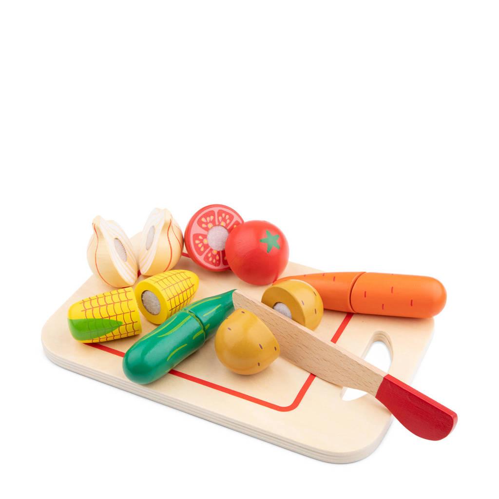 New Classic Toys houten groenten op snijplank snijset