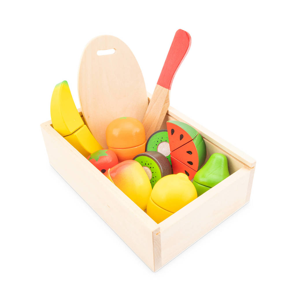 New Classic Toys houten fruitbox snijset