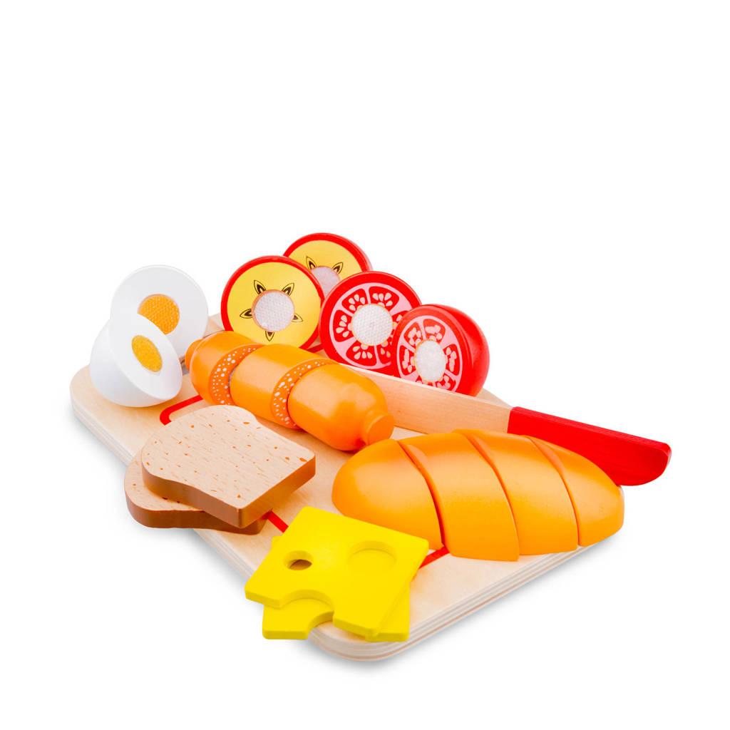 New Classic Toys houten ontbijt op snijplank snijset