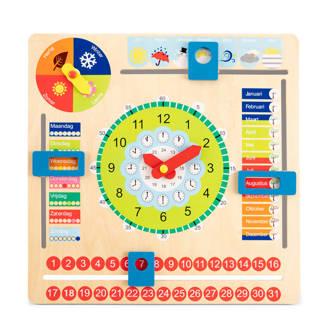 houten educatieve kalenderklok