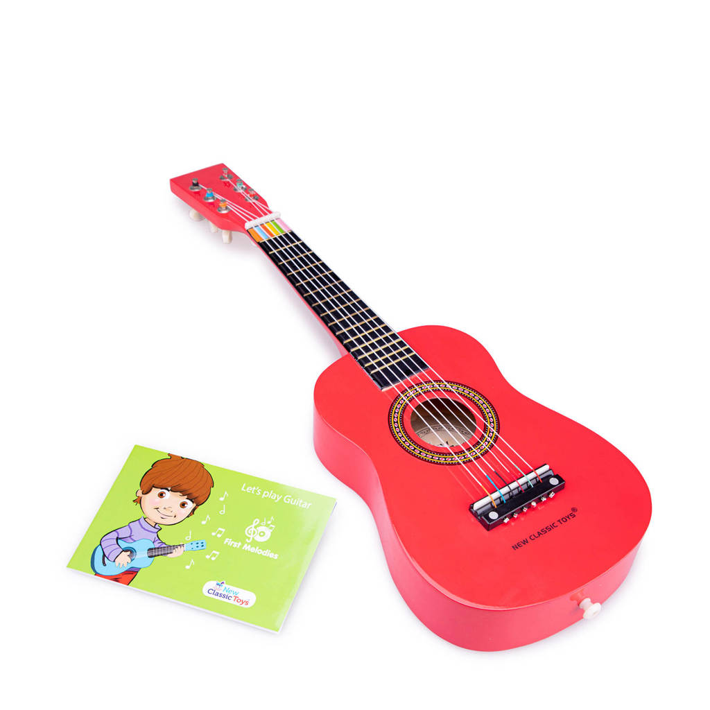 New Classic Toys houten gitaar, Rood
