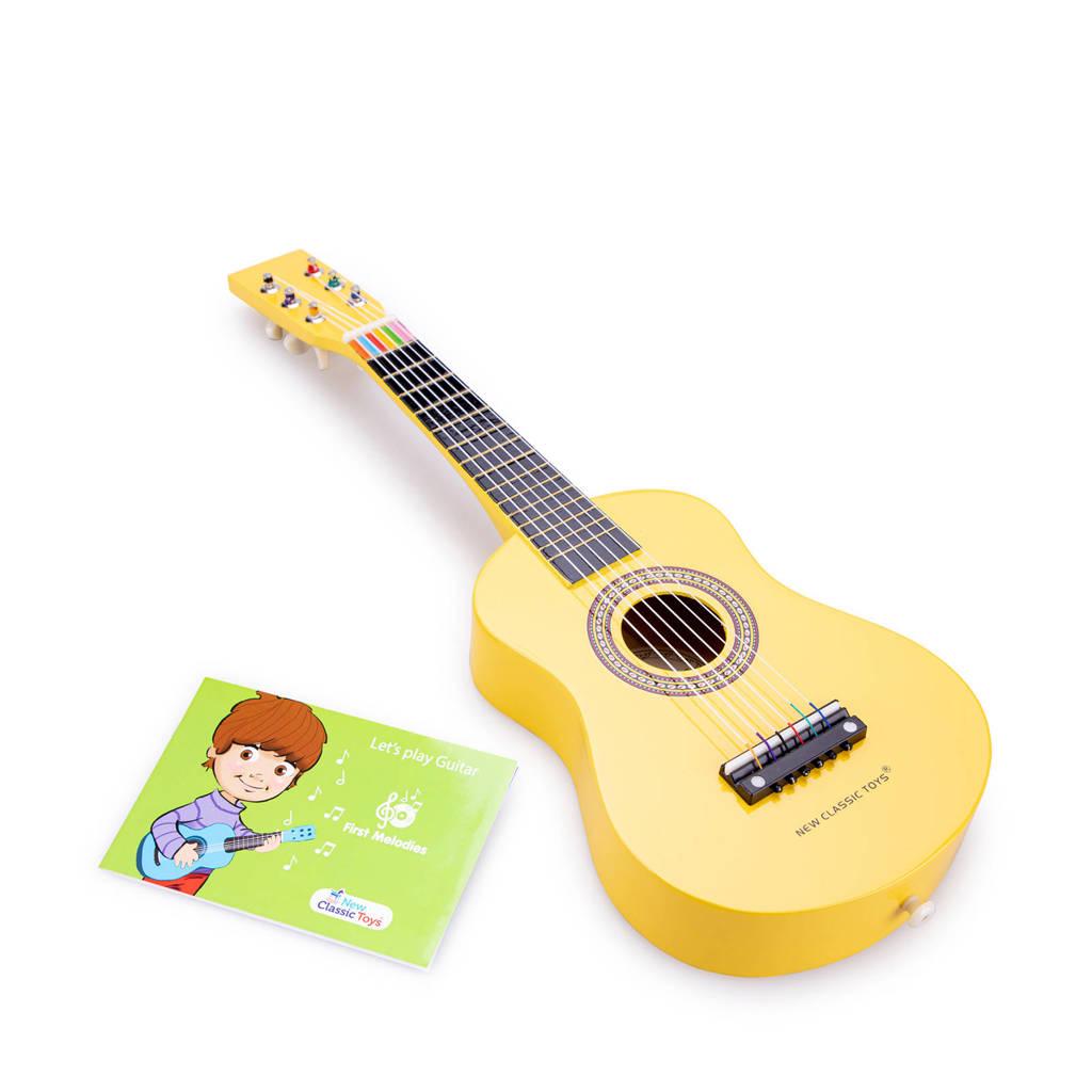 New Classic Toys houten gitaar, Geel