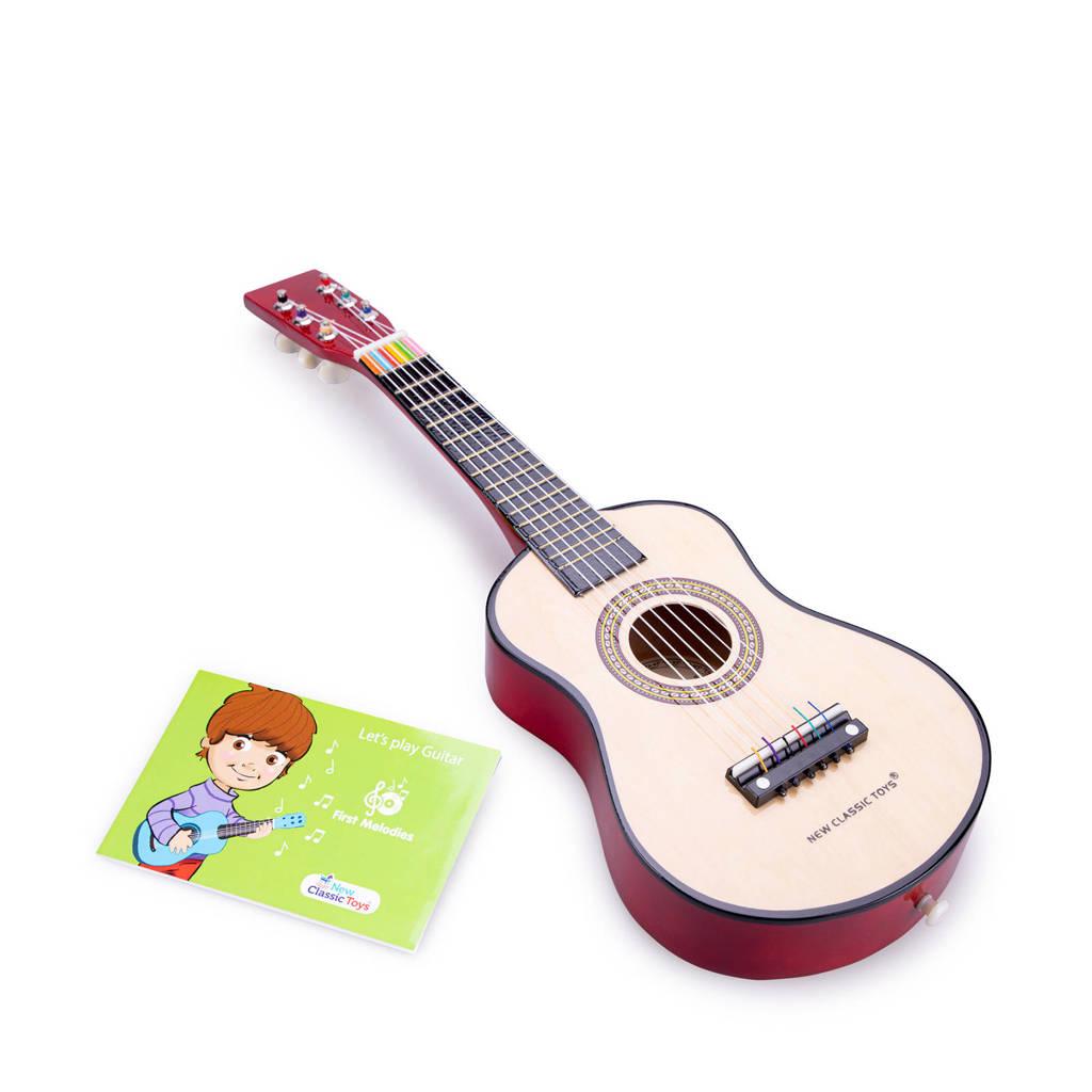 New Classic Toys houten gitaar, Naturel