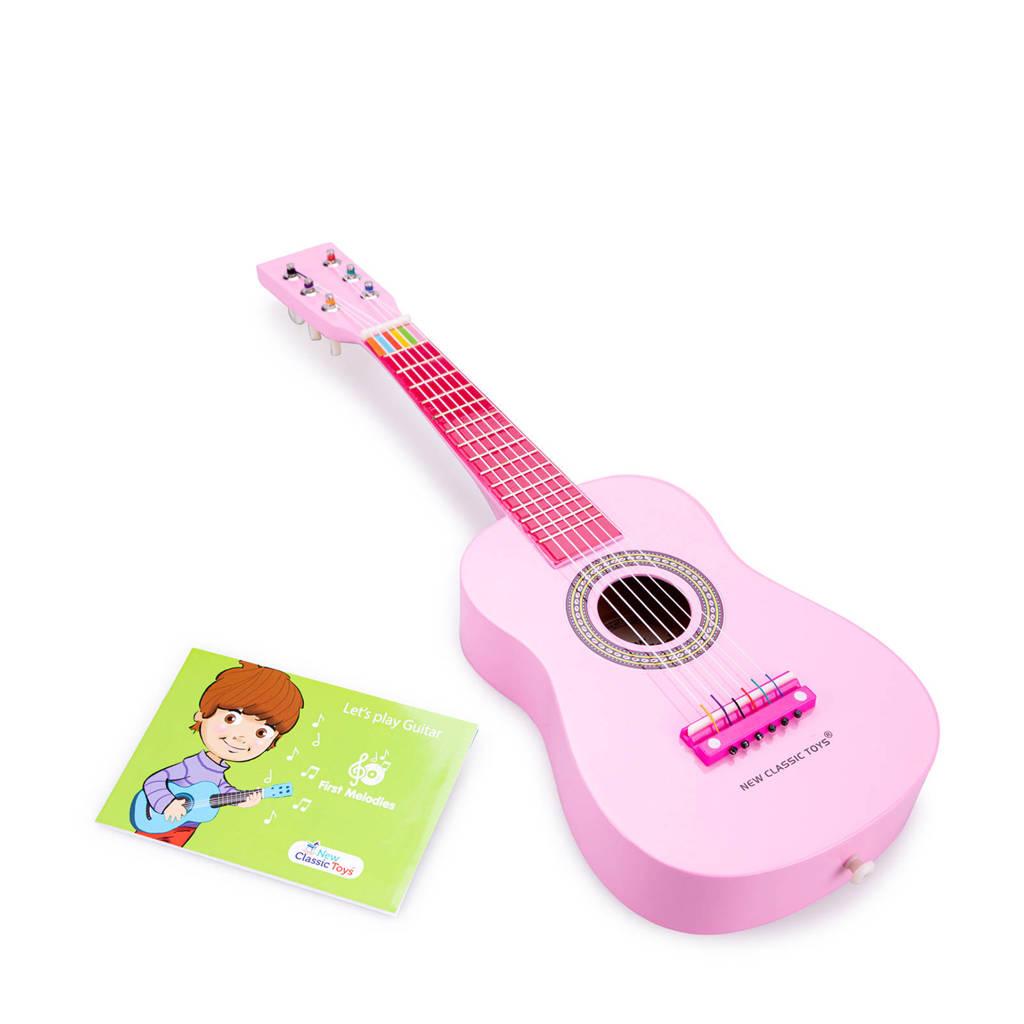 New Classic Toys houten gitaar, Roze