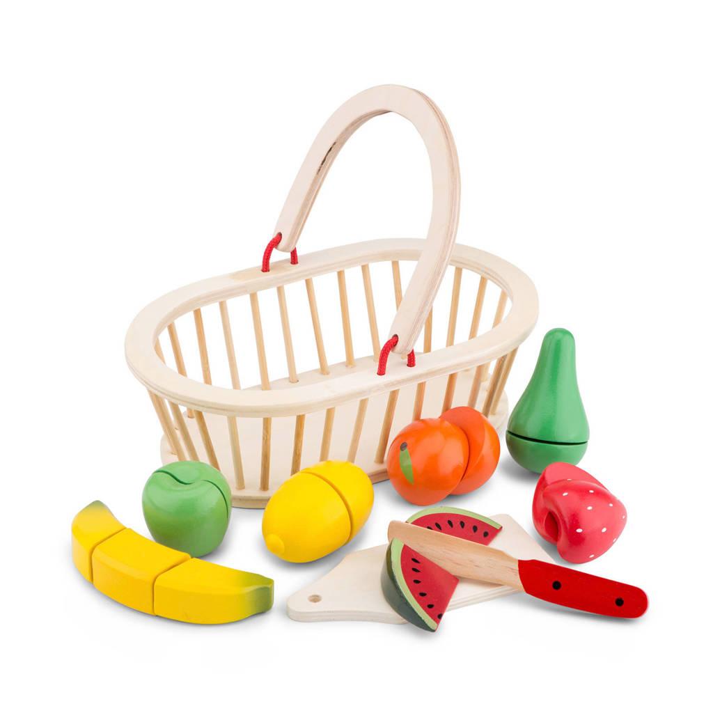 New Classic Toys houten fruitmand snijset