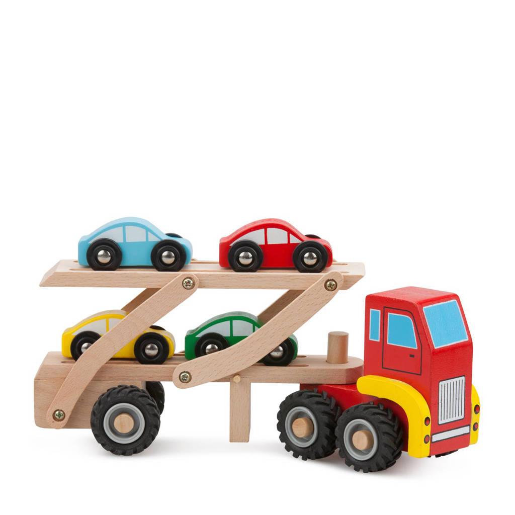 New Classic Toys houten autotransporter