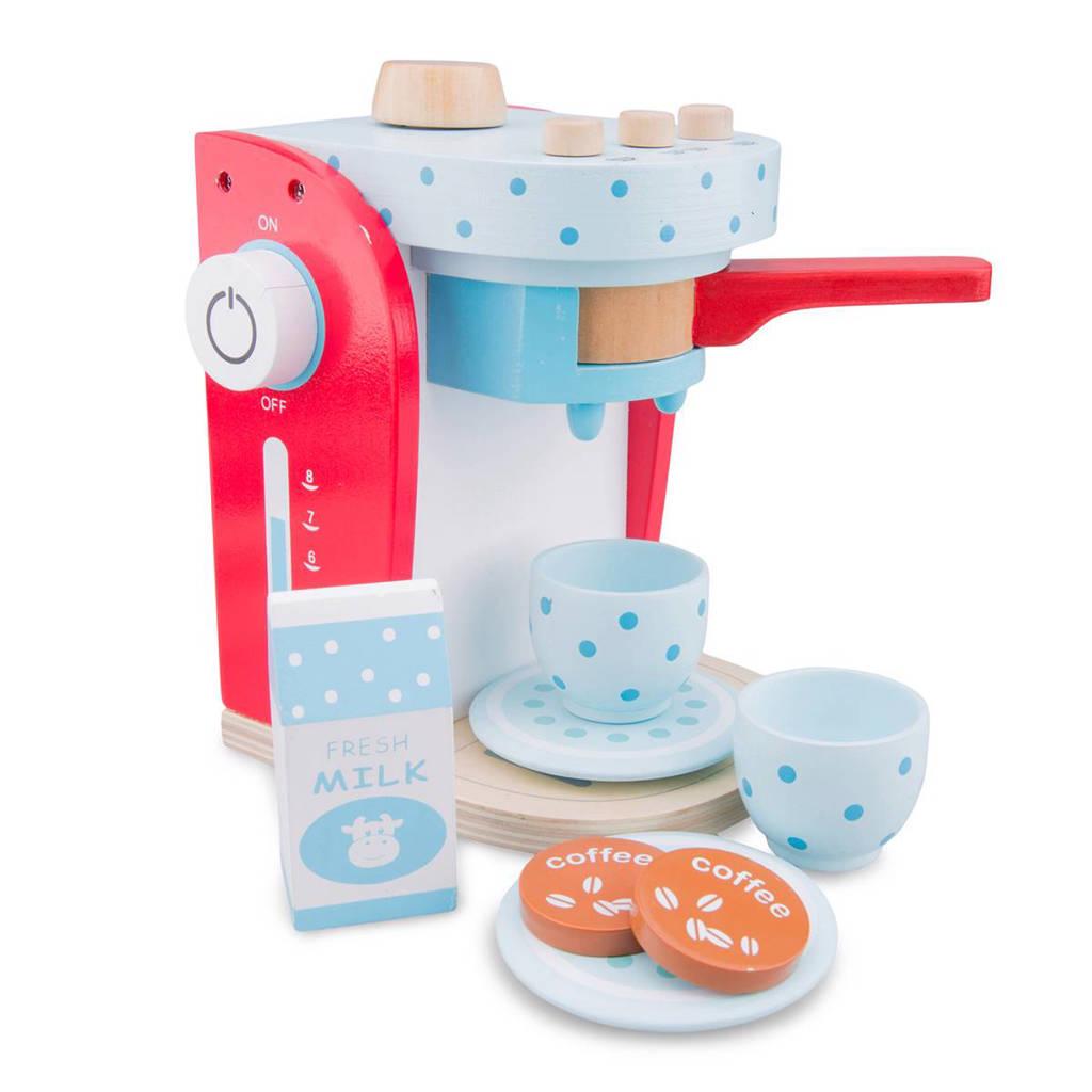 New Classic Toys houten koffiemachine set