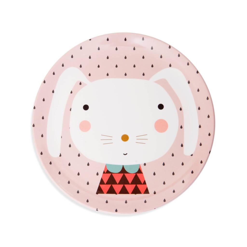 Petit Monkey plat bord (Ø20,3 cm), Roze