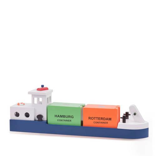 New Classic Toys houten rijnaak met 2 containers kopen
