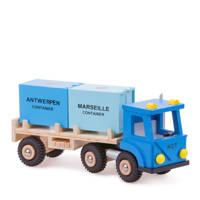 New Classic Toys houten vrachtwagen met 2 containers