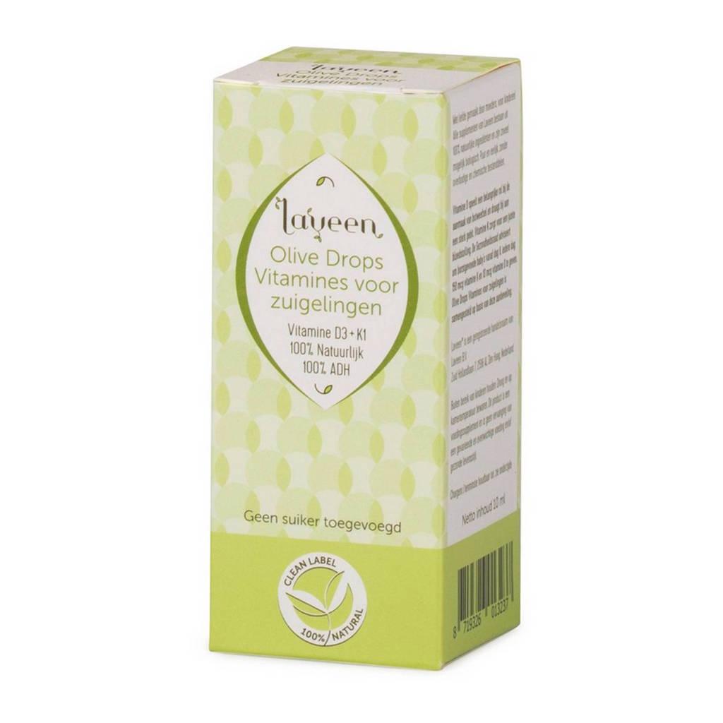 Laveen olijfolie druppels voor zuigelingen vitamine D + K 10 ml