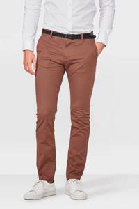 WE Fashion Blue Ridge Bobby skinny fit chino bruin, Bruin