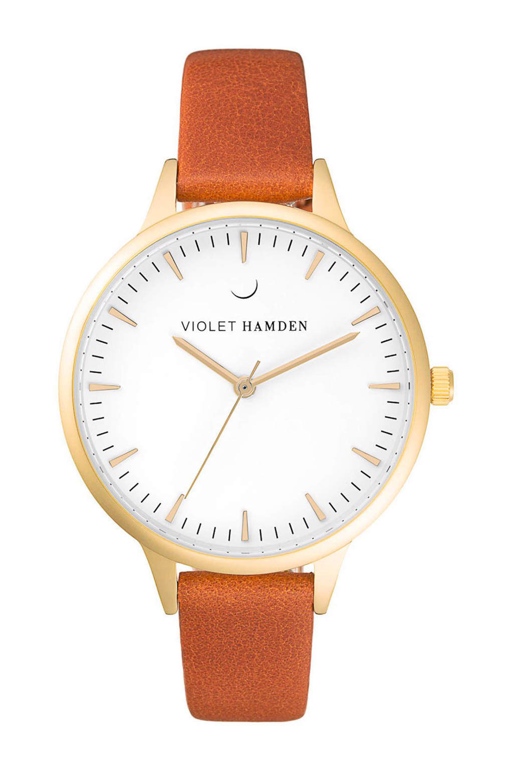 Violet Hamden Day & Night horloge - VH00109, Goud/brique/wit