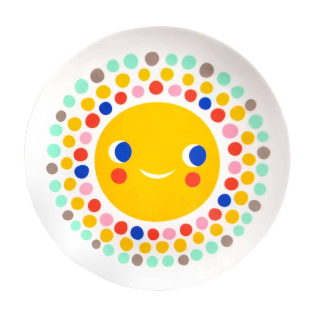 Petit Monkey plat bord (Ø20,3 cm), Wit