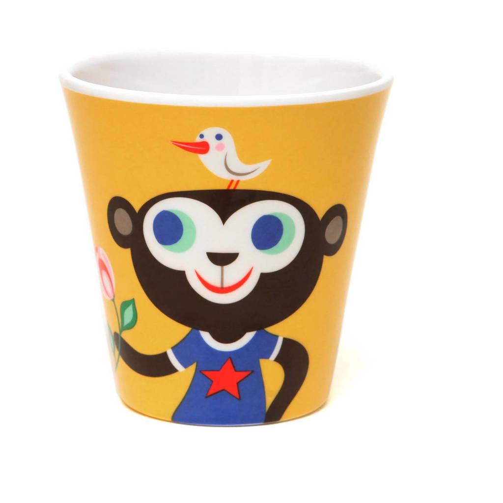 Petit Monkey mok (Ø8 cm), Geel