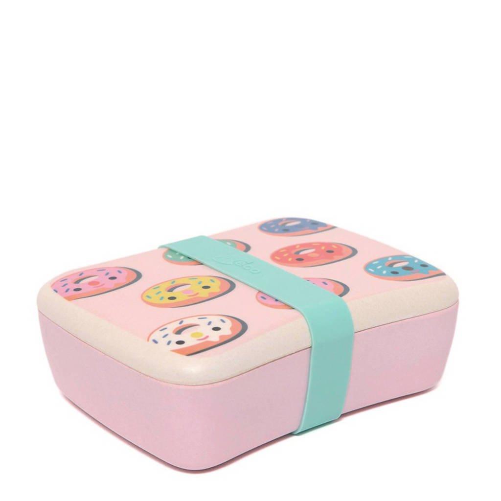 Petit Monkey lunchbox Donuts, Roze