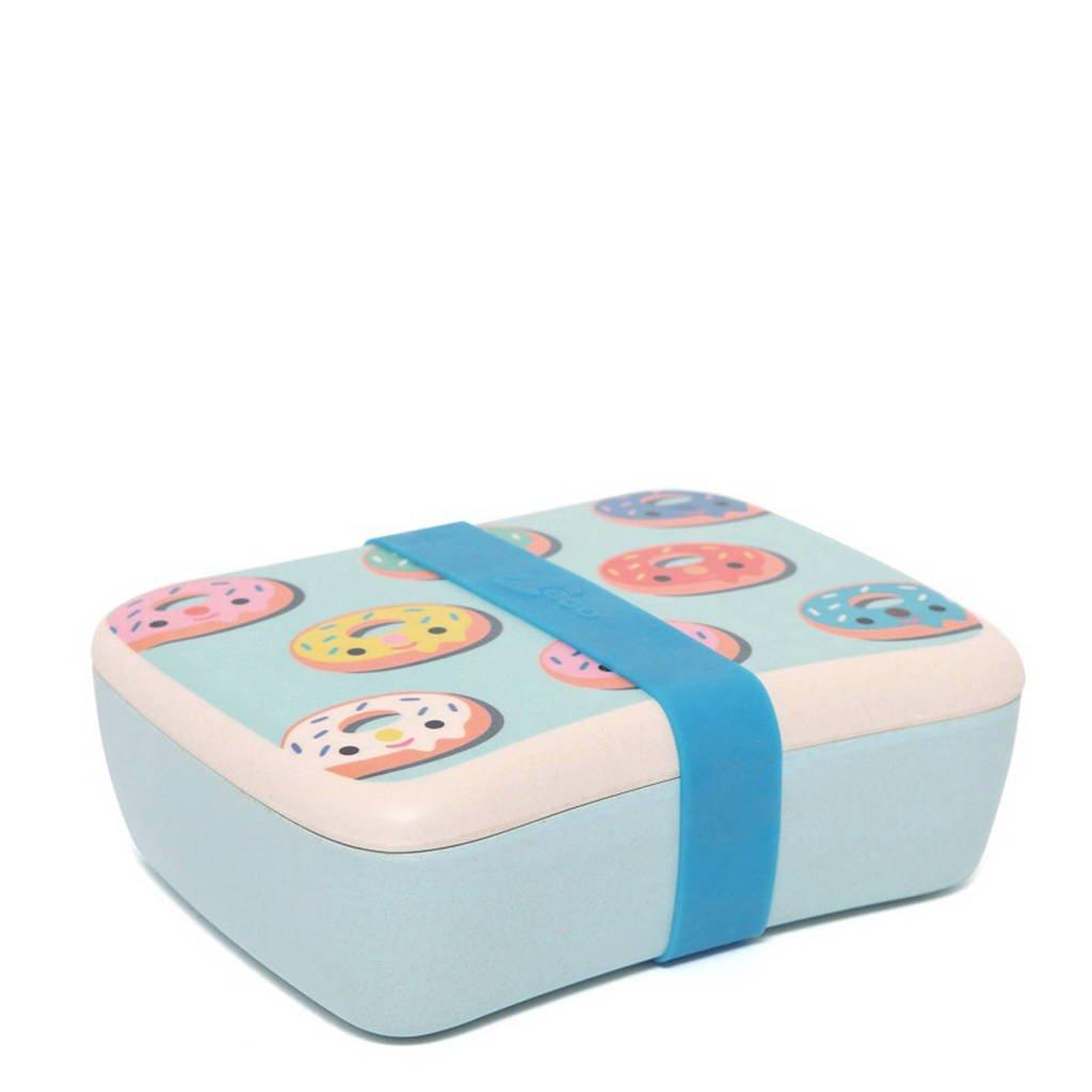 Petit Monkey lunchbox Donuts, Blauw