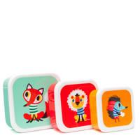 Petit Monkey lunchbox (set van 3), Multi