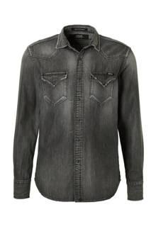 regular fit denim overhemd