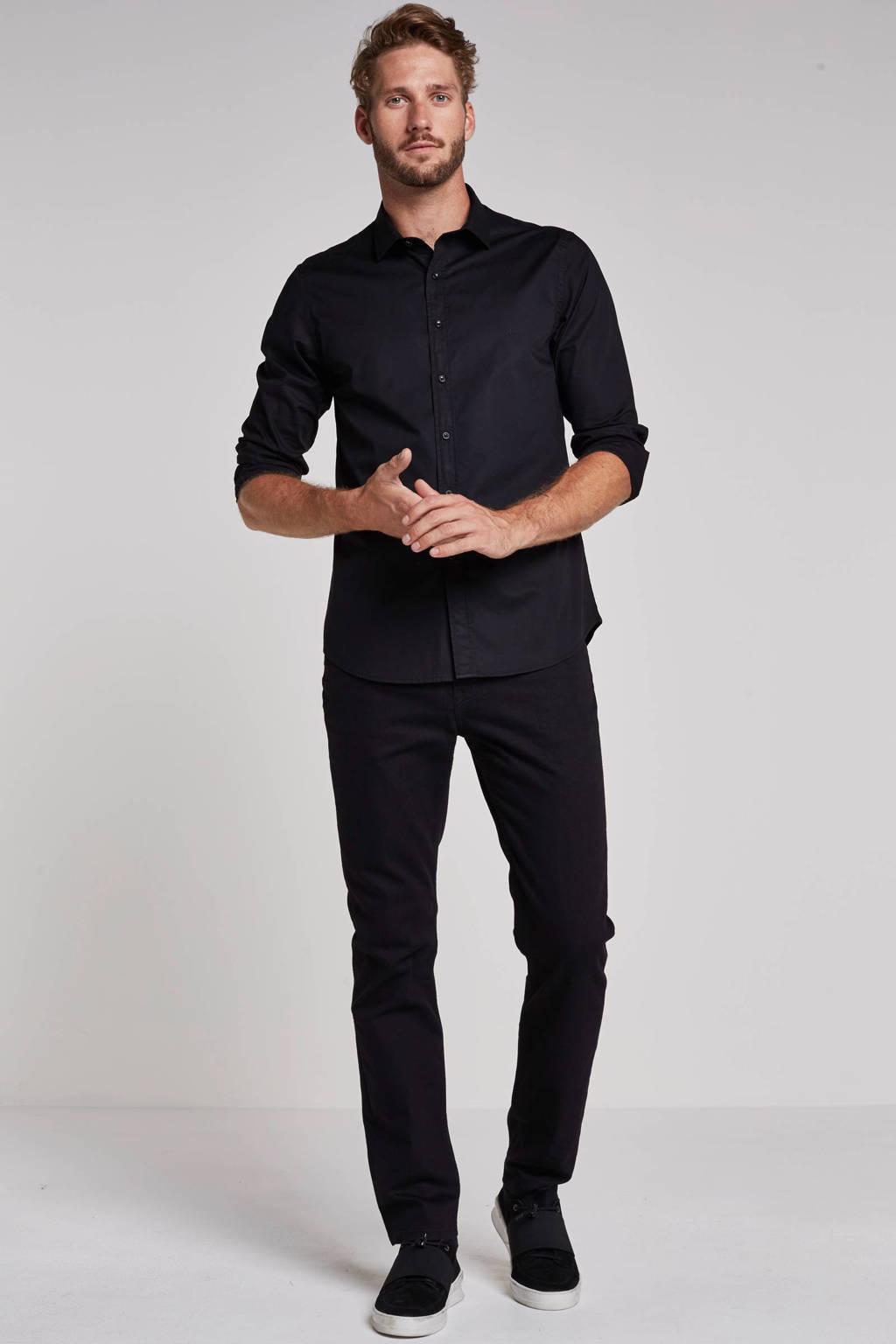 REPLAY slim fit overhemd, Zwart